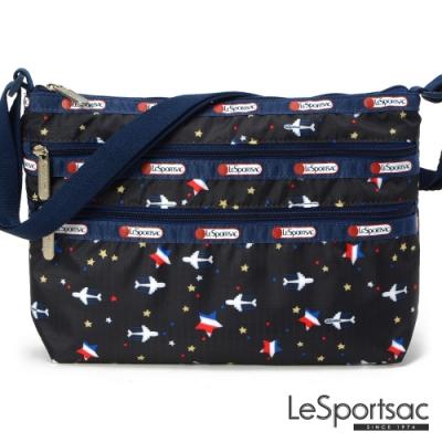 LeSportsac - Standard 橫式三層拉鍊斜背包 (夢想起飛)