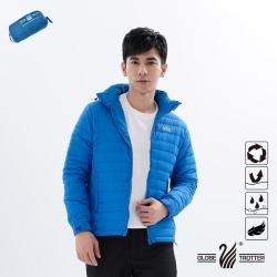【遊遍天下】男款防潑水防風保暖可拆帽90%羽絨外套GJ22011藍色