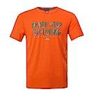 The North Face北面男款橙色印花吸濕透氣短袖T恤|3RGMUUQ