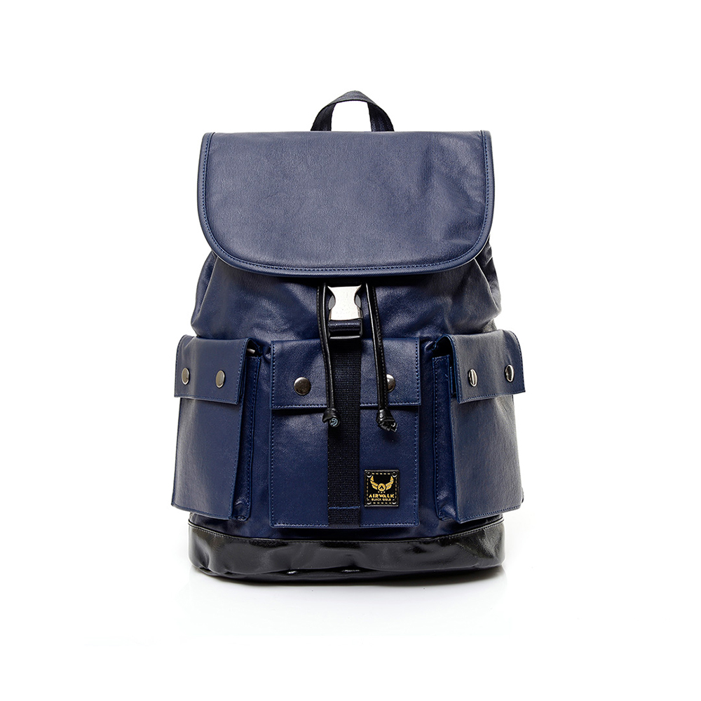 【AIRWALK】黑金系列 空降使者系列三口袋多功能後背包-藍