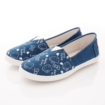 HelloKitty童鞋 印花帆布休閒鞋款 SE19874藍(中大童段)