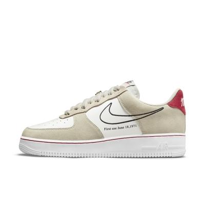 Nike AIR FORCE 1 07 LV8 奶茶 男休閒鞋-卡其白-DB3597100