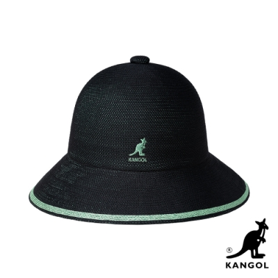 KANGOL-TROPIC STRIPE 鐘型帽-黑色