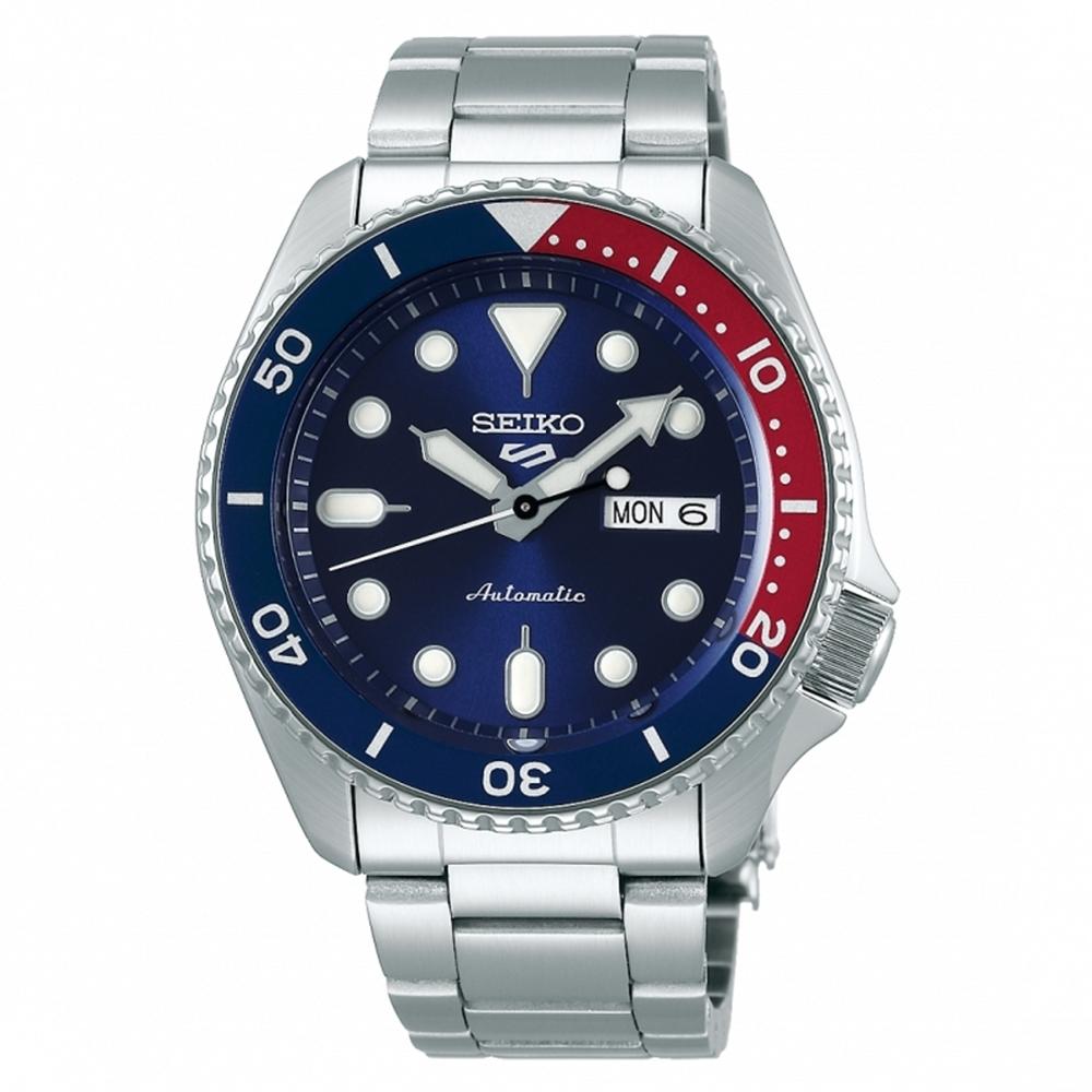SEIKO 5 sport 紅藍水鬼機械腕錶 4R36-07G0R(SRPD53K1)x42.5mm