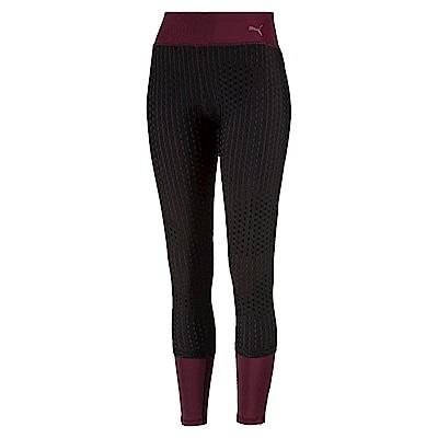 PUMA-女性訓練系列大網洞緊身褲-濃暗紅-歐規