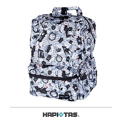 日本HAPI+TAS 可手提 折疊後背包 新版灰色愛麗絲