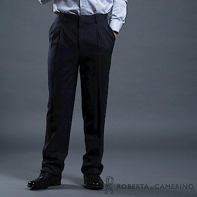 ROBERTA諾貝達 台灣製 都會休閒 羊毛西裝褲 深藍