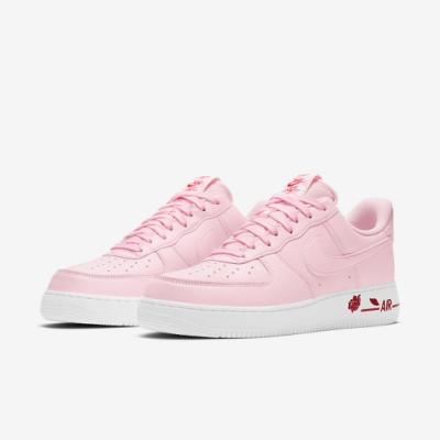 Nike 休閒鞋 Air Force 1 07 運動 男女鞋 經典款 皮革 簡約 玫瑰 情侶穿搭 粉 白 CU6312600