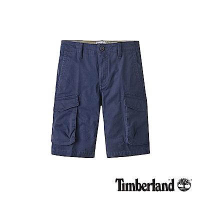 Timberland 男款深藍寶石色復古直筒工裝休閒短褲|A1VTC