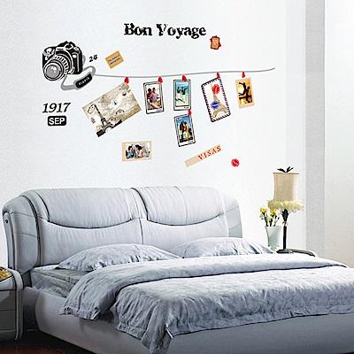 半島良品 DIY無痕壁貼-記憶開麥拉 AY7108 50x70cm