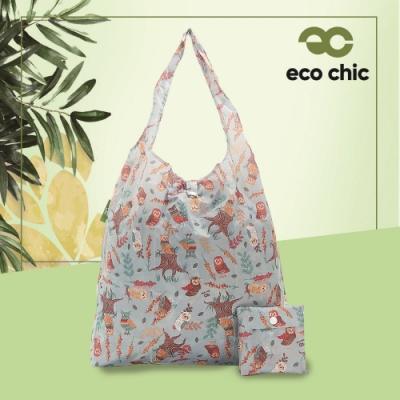 【英國ECO】時尚摺疊購物袋-貓頭鷹(100%再生環保纖維布料)(快)