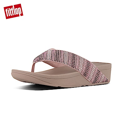 FitFlop STROBE TOE-THONG SANDALS灰粉