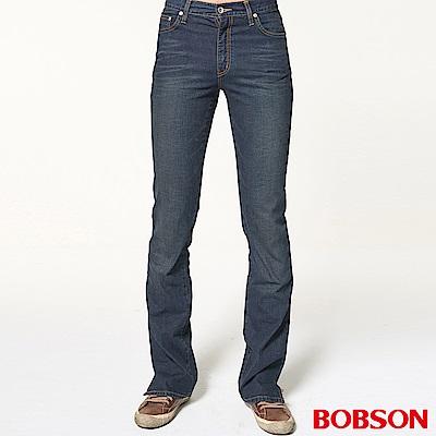 BOBSON 男款淺藍貓鬚喇叭褲