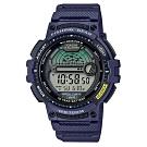 CASIO 海釣者專屬10年電力設計數位電子錶-藍(WS-1200H-2A)/48.6mm