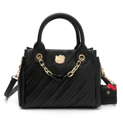 Kitty聯名- 手提包附長背帶 BRILLIANT 璀璨系列-黑色
