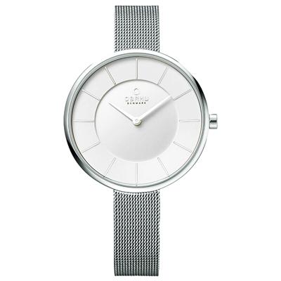OBAKU 純粹時刻鋼質腕錶-銀-V185LXCIMC-38mm
