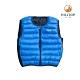 【hilltop山頂鳥】童款超潑水保暖蓄熱羽絨雙面穿內背心PF25XCF6ECEE藍色 product thumbnail 1