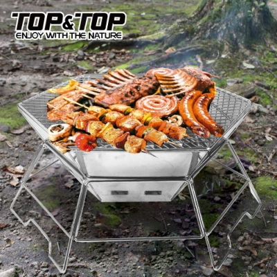 韓國TOP&TOP 不鏽鋼六角焚火台 烤肉爐 野炊 露營