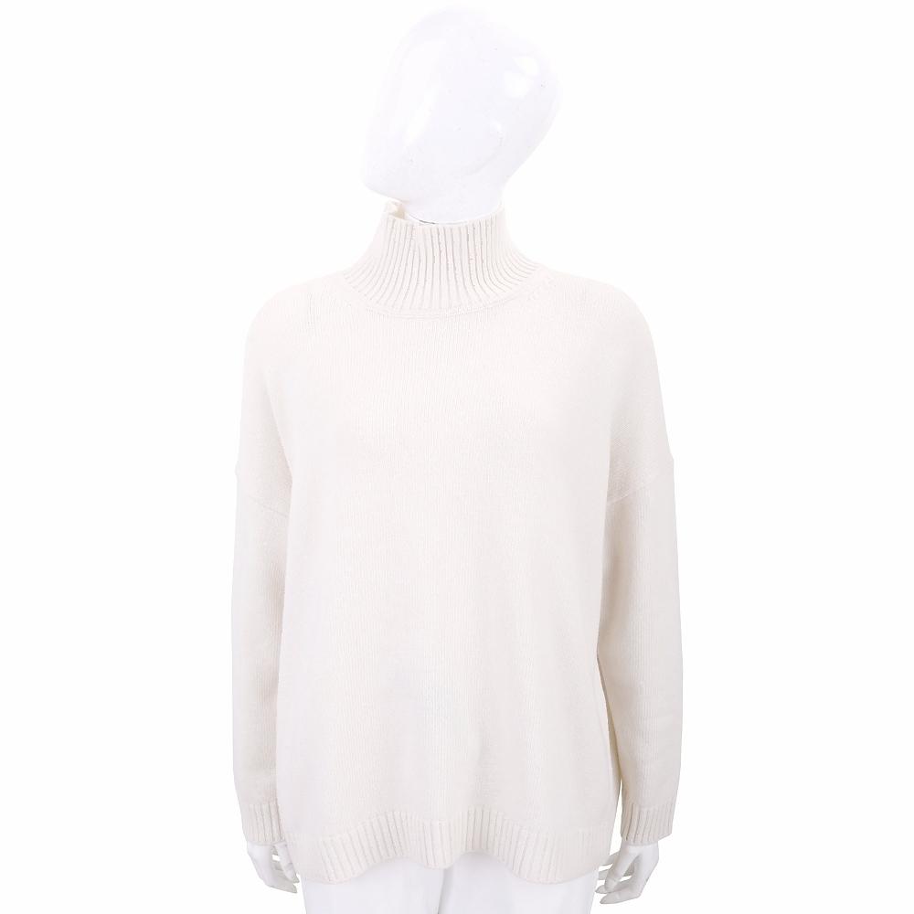 Max Mara-WEEKEND 米色高領針織羊毛衫