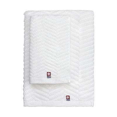日本丸真 今治原綿純白浴巾-水波紋