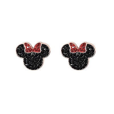 SWAROVSKI 施華洛世奇 迪士尼系列米妮剪影水晶造型耳環