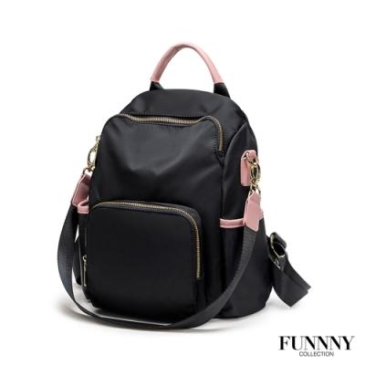 FUNNNY 防盜後背包系列 Raina 黑x粉