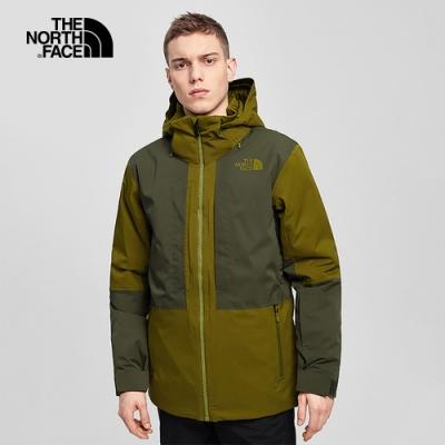 The North Face北面男款綠色防水透氣鋪棉外套|4QXK5YM