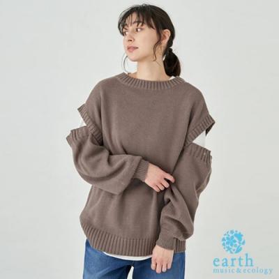 earth music 可拆袖設計多穿式長版針織上衣
