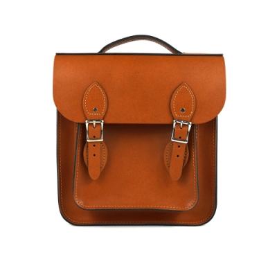 The Leather Satchel 英國原裝手工牛皮經典小後揹包 手提包 倫敦棕