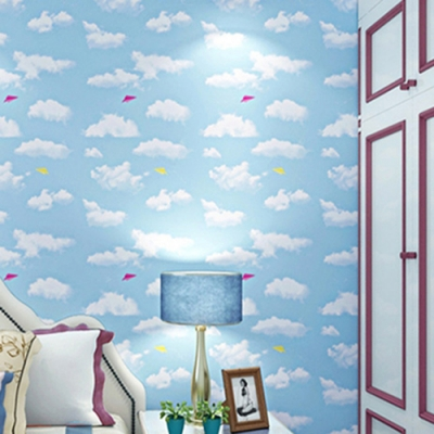 半島良品 防水PVC自黏牆紙45x200cm-藍天白雲