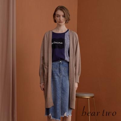 beartwo- 針織外罩衫(兩色)