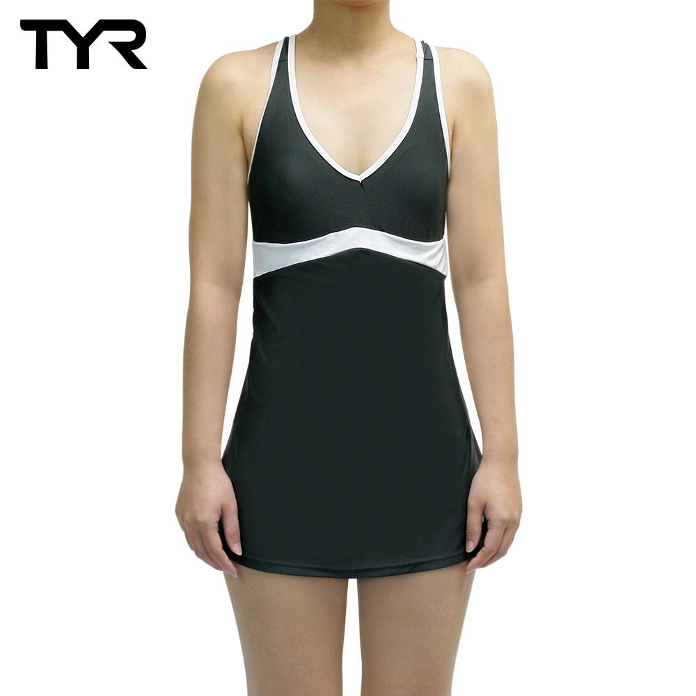 美國TYR 女用修身連身裙泳裝 Celsia Swim Dress Gray