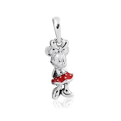 Pandora 潘朵拉 迪士尼系列 點點紅裙米妮 垂墜純銀墜飾