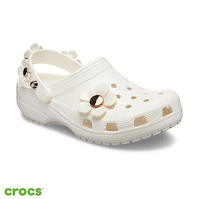 Crocs 卡駱馳 (中性鞋)經典金屬花朵克駱格 205585-159