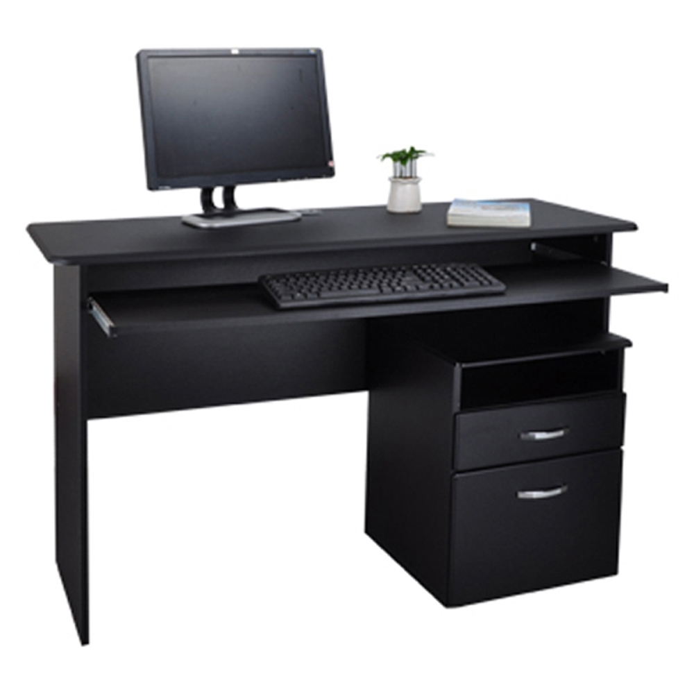 DFhouse黑森林附鍵盤電腦桌+活動櫃-2色 辦公椅 122*49*76