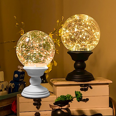 法國三寶貝 火樹銀花夜燈-大球燈遙控款(兩色)