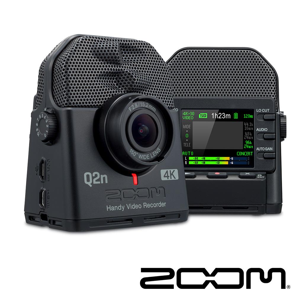 ZOOM Q2N-4K 廣角4K 隨身直播攝影機-公司貨