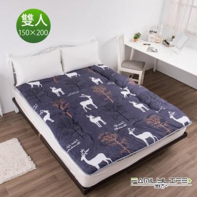 【FL生活+】日式加厚8cm雙人床墊(150*200cm)-深秋麋鹿(FL-109-U)