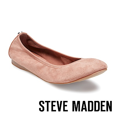 STEVE MADDEN-BAMBA時尚芭蕾平底鞋-絨粉