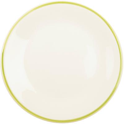 《EXCELSA》陶製勾邊餐盤(綠L)