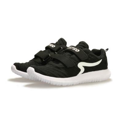 【ZEPRO】AIR飛織透氣輕量運動鞋(中童)-黑