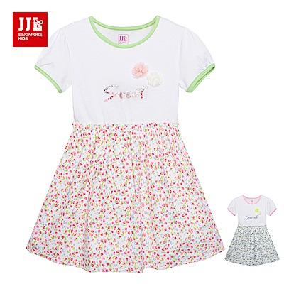 JJLKIDS 繽紛小碎花拼接洋裝(2色)