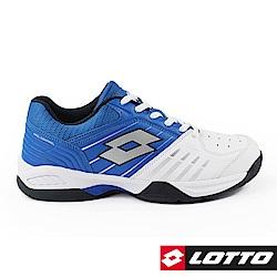 LOTTO 義大利 男 T-TOUR 600 全地型網球鞋 (白/藍)