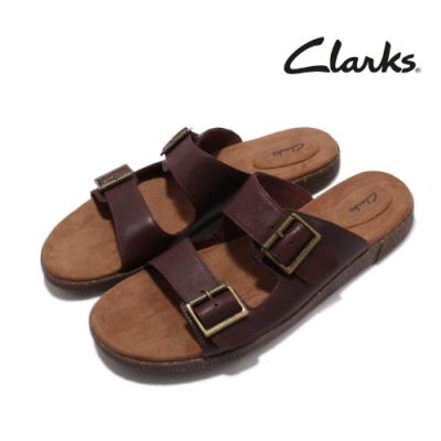 Clarks 涼拖鞋 Vine Cedar 真皮 皮革 男鞋