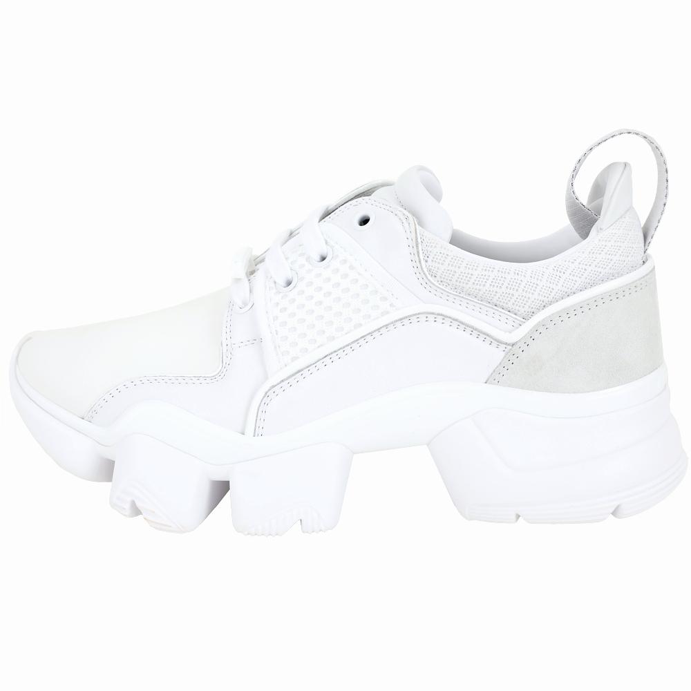GIVENCHY JAW 拼接網布齒紋老爹鞋(經典白)