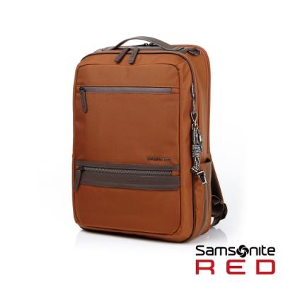 Samsonite RED GLENDALEE 運動時尚功能筆電後背包M 14 (附防雨套)(橘紅)