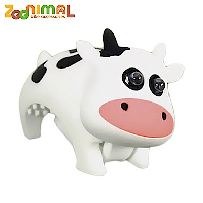 ZOONIMAL 無毒材質可愛動物LED公仔單車用前燈-呆乳牛