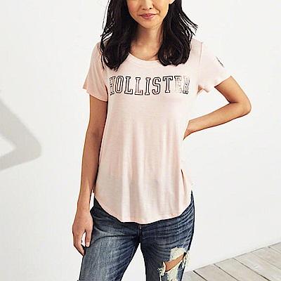 HCO Hollister 海鷗 經典印刷文字短袖T恤(女)-粉色