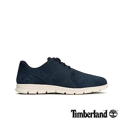 Timberland 男款海軍藍正絨面皮革牛津休閒鞋|A1XGD