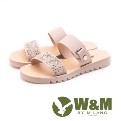 W&M微厚底雙帶涼拖鞋 女鞋 - 裸色(另有駝色)